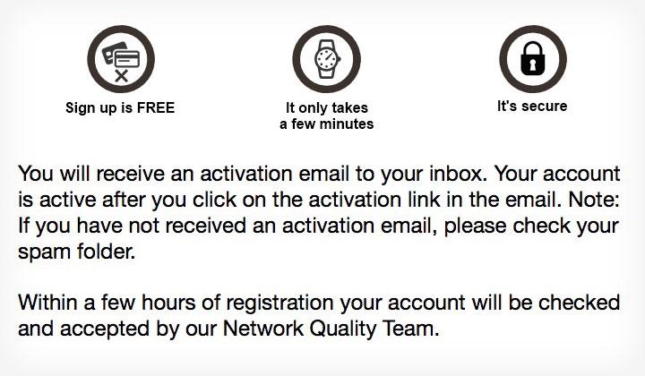 Affilinet Sign up