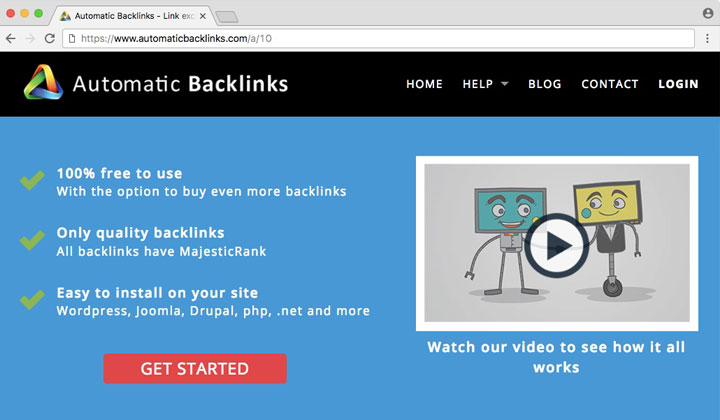 Automatic Backlinks Affiliate URL