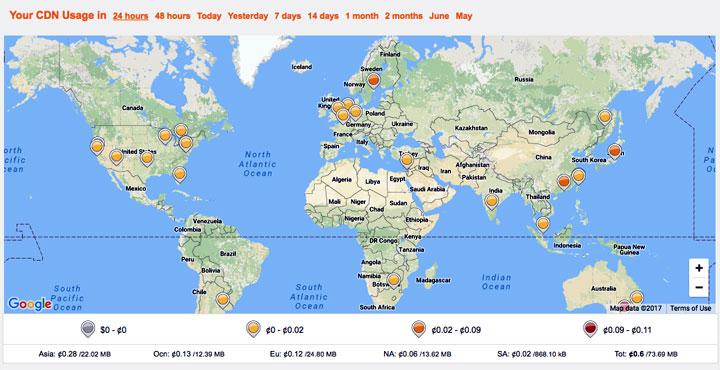 CDNSun Data Center Map