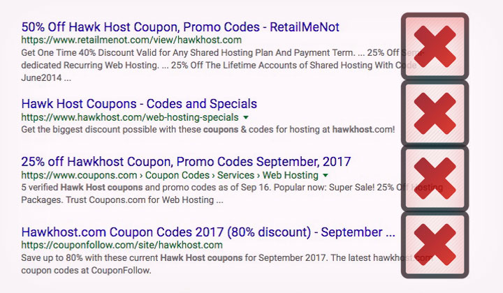 Hawk Host Coupon Websites