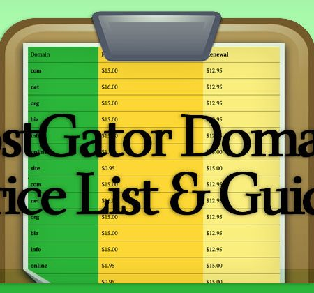 HostGator Domain Price List
