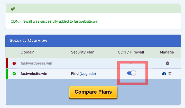 HostGator Enable CDN & Firewall