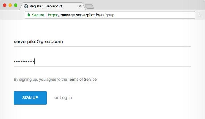 ServerPilot Register