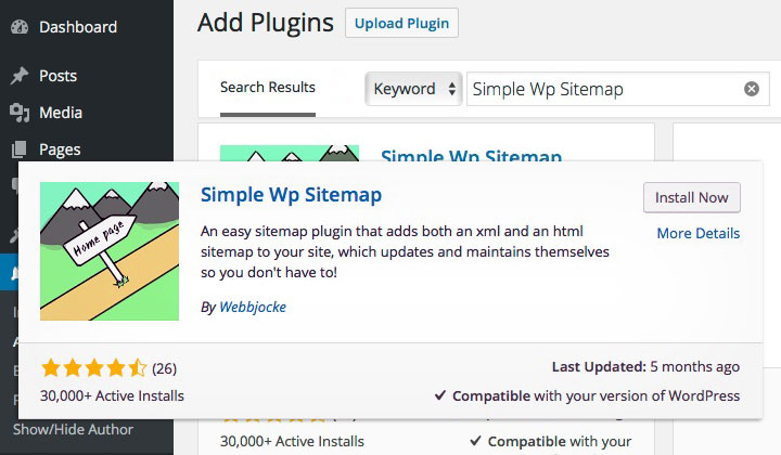 Simple Wp Sitemap Plugin