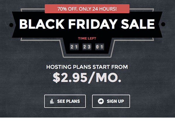 SiteGround: Black Friday Sale