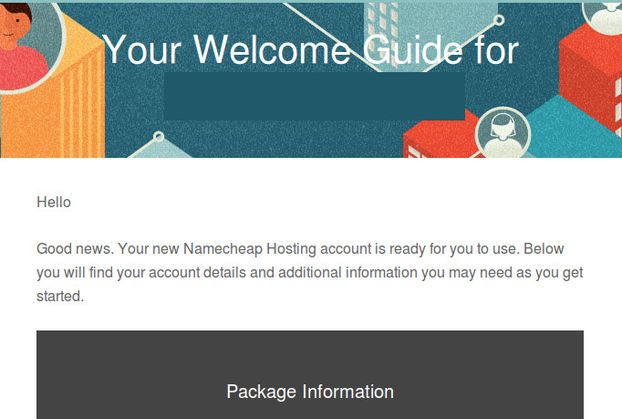 Namecheap new hosting plan welcome guide