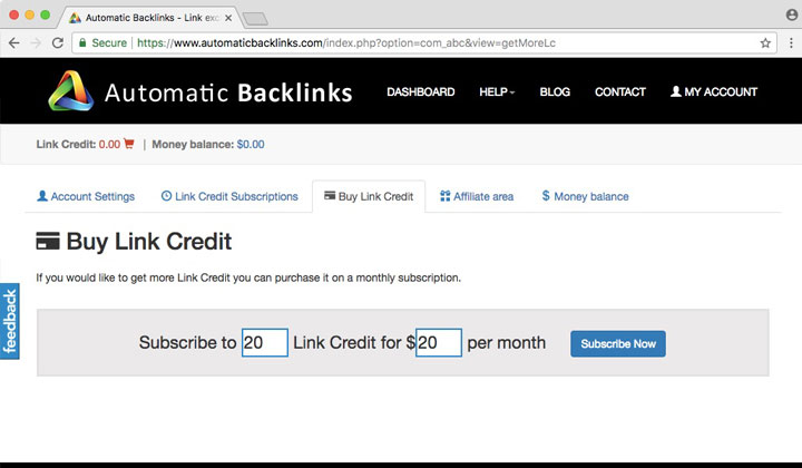 Automatic Backlinks Buy Link Credit