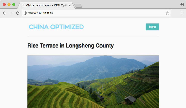 China Optimized WordPress