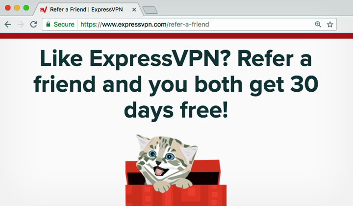 ExpressVPN Refer Friend Both Get 30 Days Free