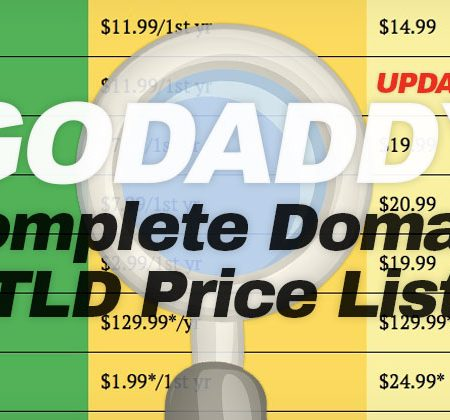 Godaddy Domain Name Price List