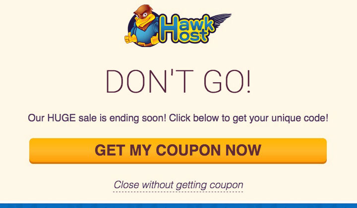 HawkHost Get My Coupon Now