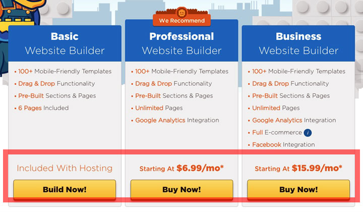 HostGator Basic Professional Business