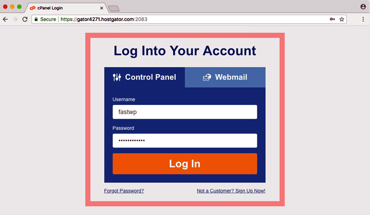 HostGator Control Panel Login