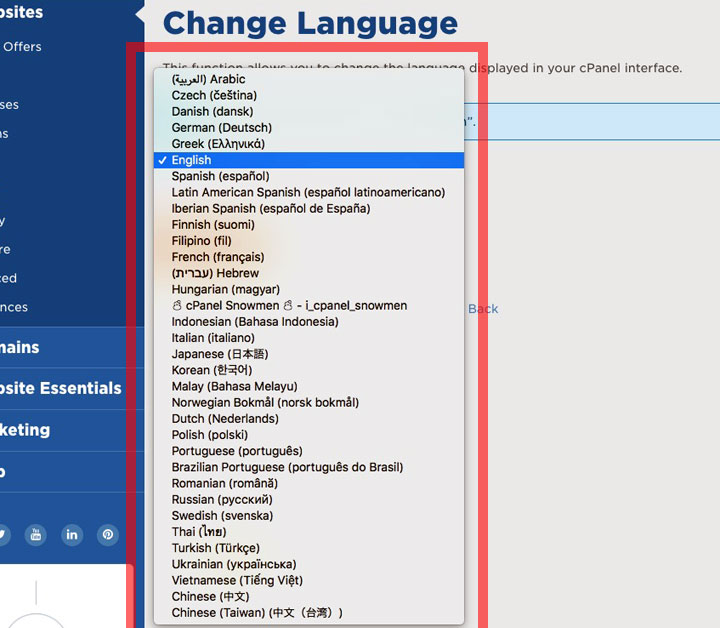 HostGator Languages