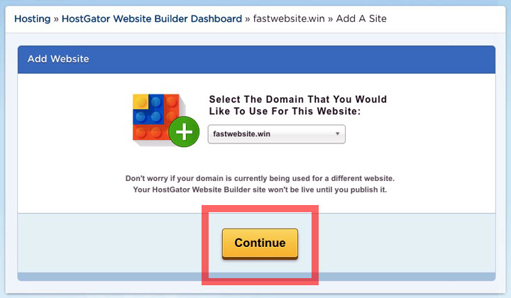 HostGator Select Website Domain