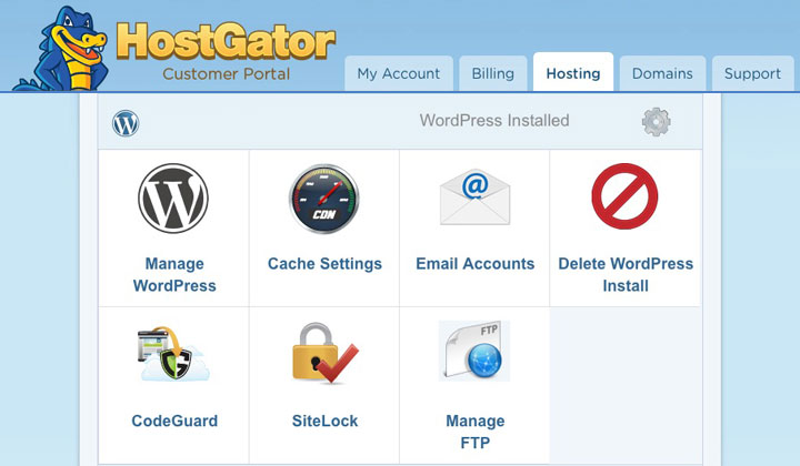 HostGator WP Hosting Customer Portal