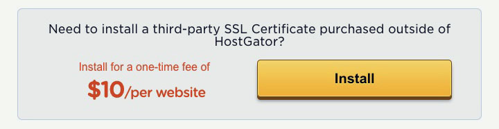 Install Third-Party SSL Certificate