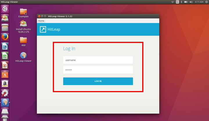 Log In HitLeap Viewer