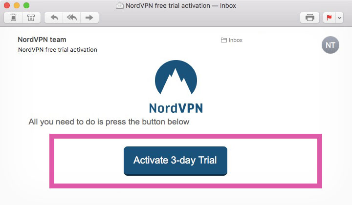 activate your 3 day free trial nordvpn