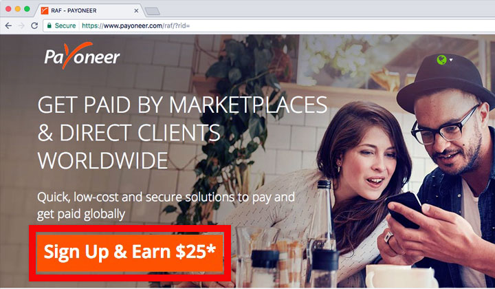 Payoneer Sign Up & Earn $25