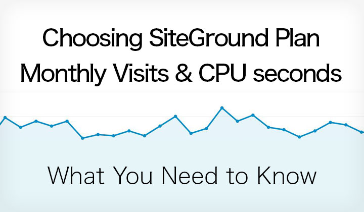 SiteGround Monthly Visits & CPU Seconds