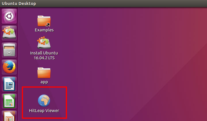 Ubuntu Desktop HitLeap Viewer.