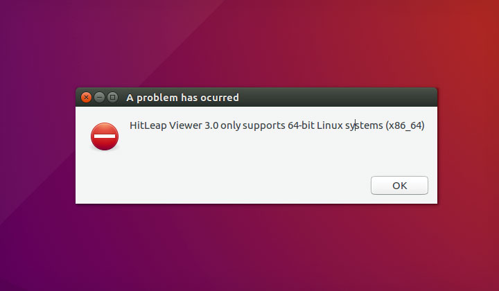 Ubuntu: HitLeap Viewer 3.0 only supports 64-bit Linux systems (x