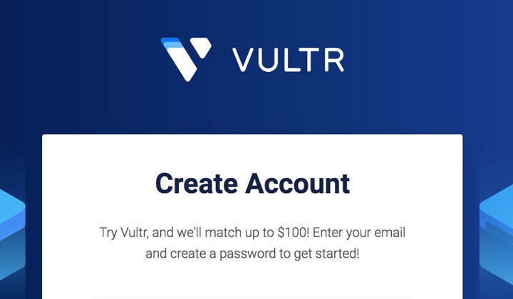 Vultr 100 Account Credit